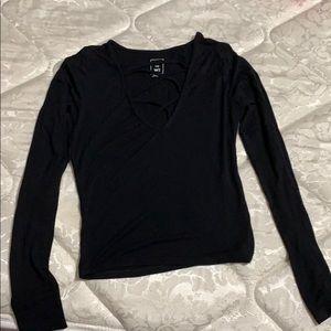 "black ""dressy"" long sleeve"